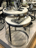 Bella Side table Polished Marble Top Set of 2 -  GGI-399 SN - PRE ORDER NOW !
