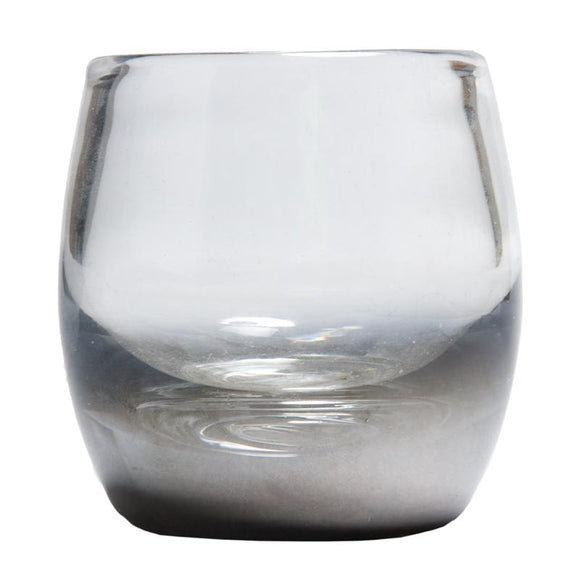 Glass Tea Light Silver 10cm - F-11015S