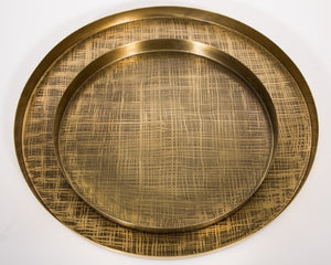 Trays etched Brass  S/2  New!! - 791055 BR  - Limited stock available !