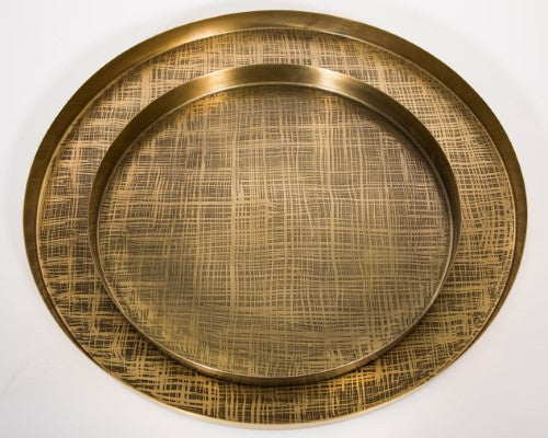 Trays etched Brass  S/2  New!! - 791055 BR