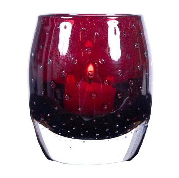 Glass Tea Light Red 10cm - F-11015 R