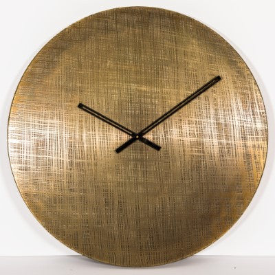 Wall Clock Brass etched 76cm  - GGI-71 BAL - New !!