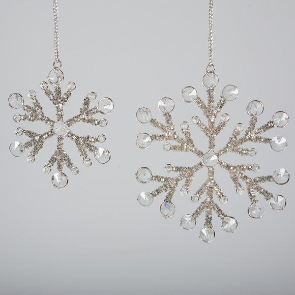 Beaded Snowflake Silver 17cm - BH-287 L