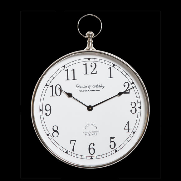 Daniel & Ashley Wall Clock 40cm - GH-103 SW - BACK IN STOCK  !!