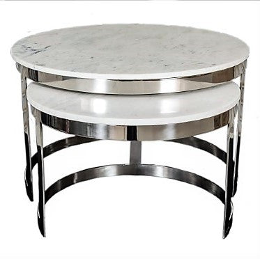 Bella Coffee table Marble Top set of 2 - GGI-399 P - Limited stock available !