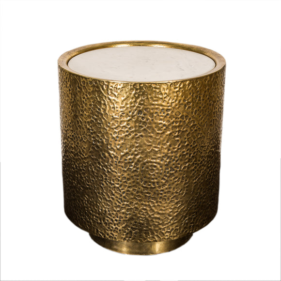 Drum Side table Brass Marble Top - GGI-52 B - NEW !