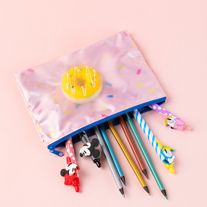 MINISO Cute Sprinkle Donut Zipper Pen Bag
