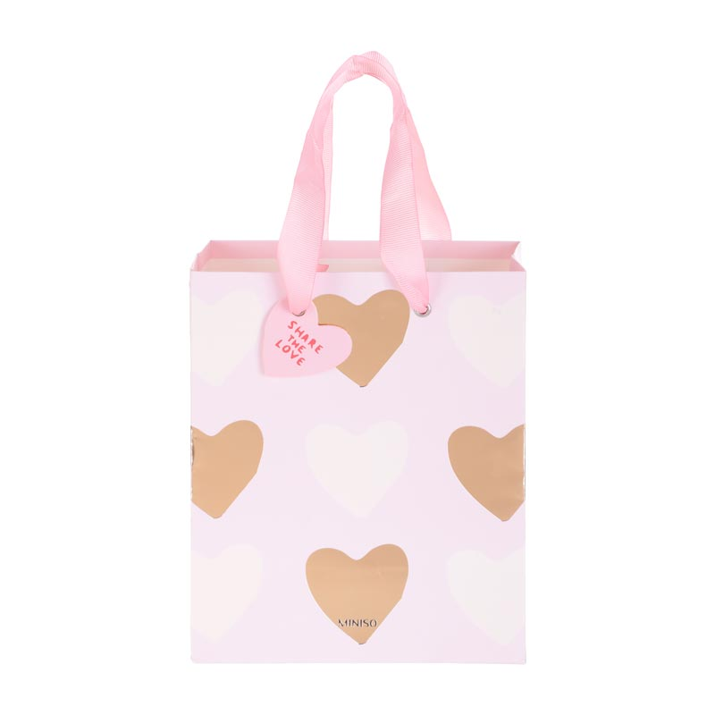 MINISO Valentine's Day Paper Gift Bag, Small