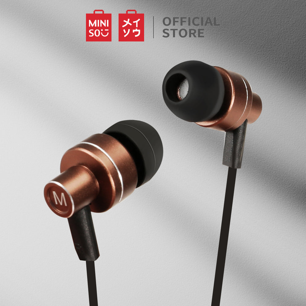 MINISO Unique Earphone with Mic & Controller (Gold)