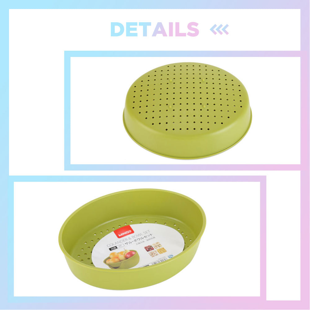 MINISO Multifunctional Vegetables and Fruit Draining Basket (Green)