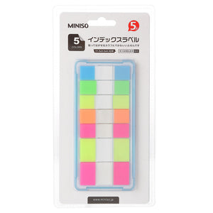 MINISO Slimline Sticky Memo, Five Colors