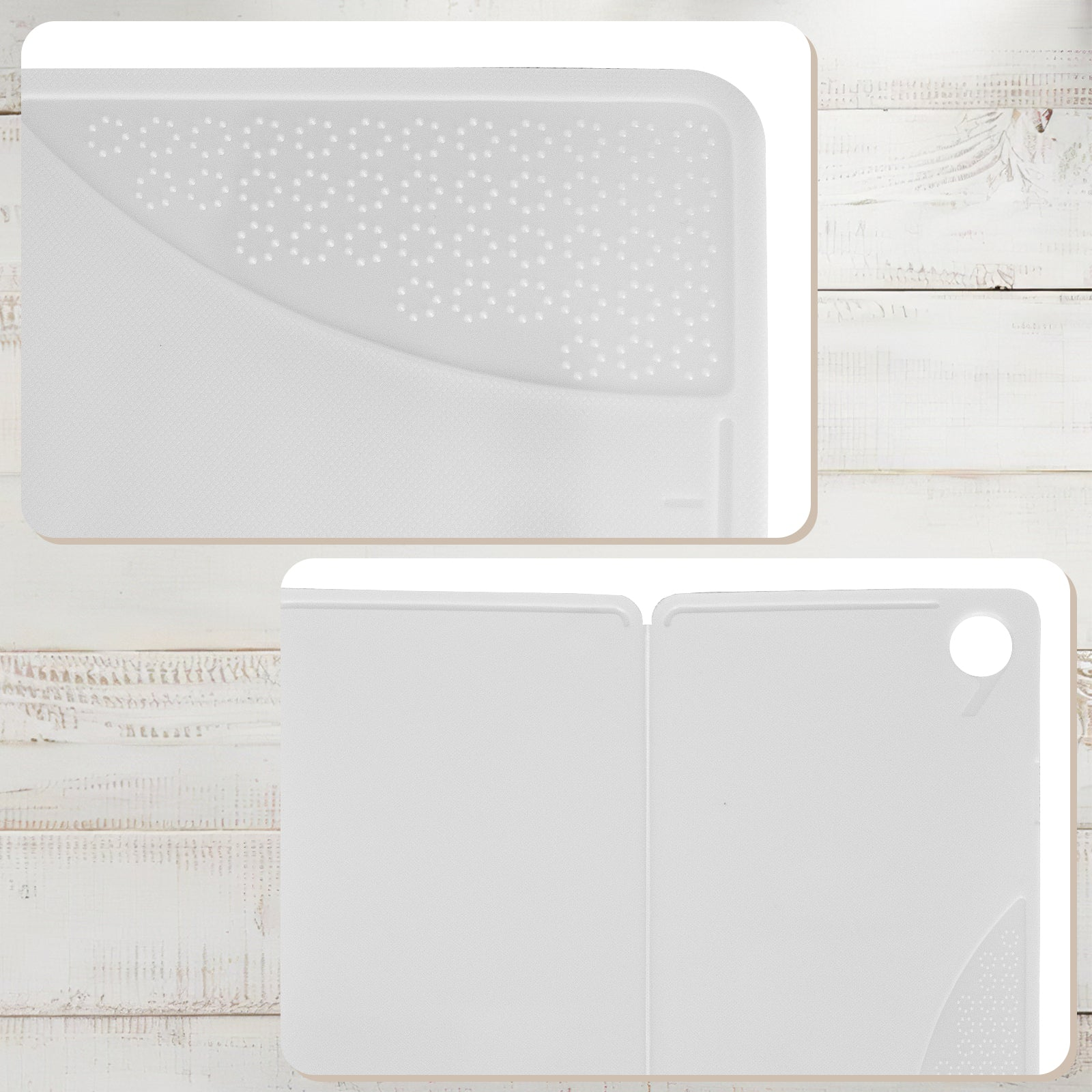 MINISO Foldable Kitchen Cutting Board (White)