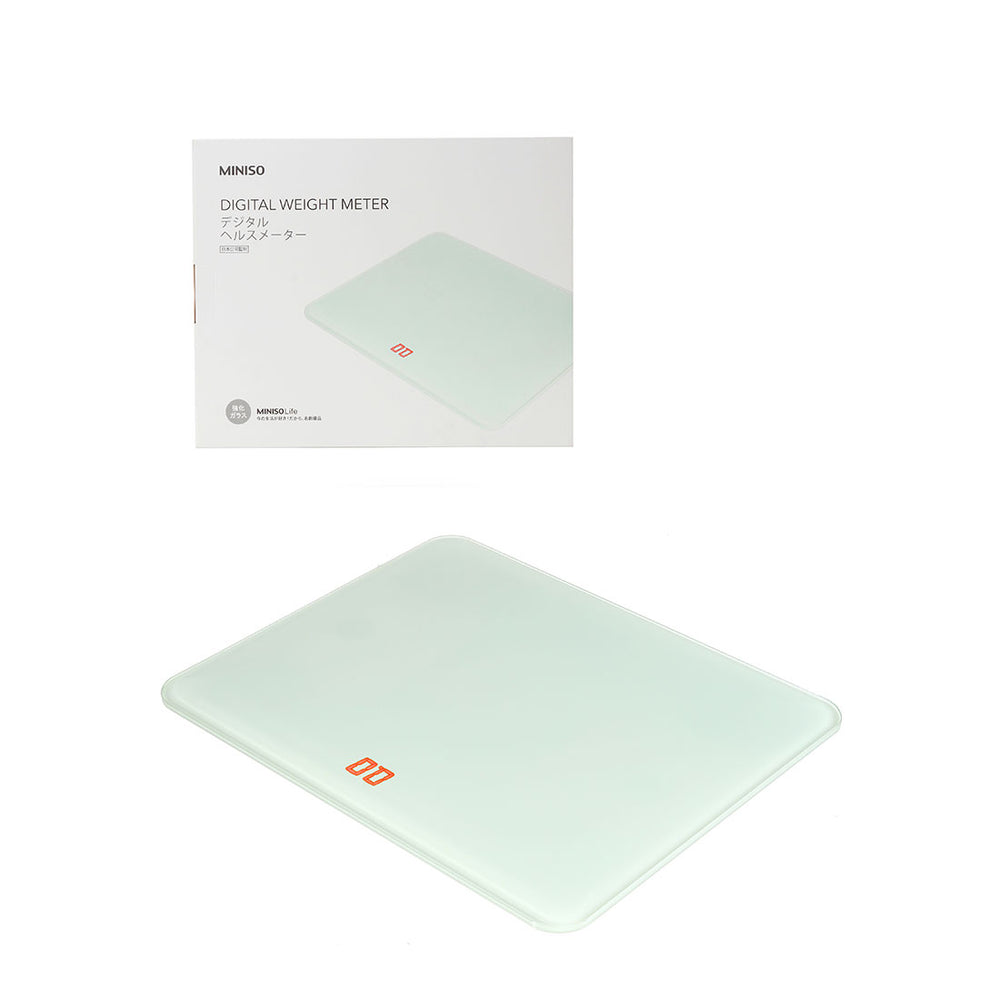 MINISO Weight Scale-Tempered Glass Body Scale (White)