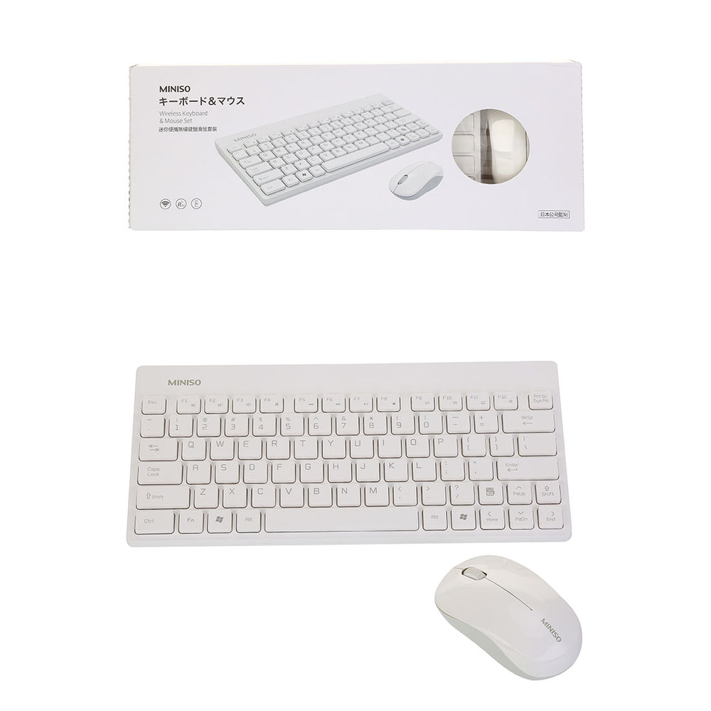 MINISO Wireless Keyboard Mouse Combo Compact Wireless Keyboard and Mouse Set