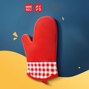 Load image into Gallery viewer, MINISO Silicone Heat-resistant Oven Mitt, Red