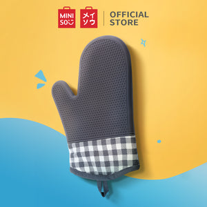 MINISO Silicone Heat-resistant Oven Mitt, Red