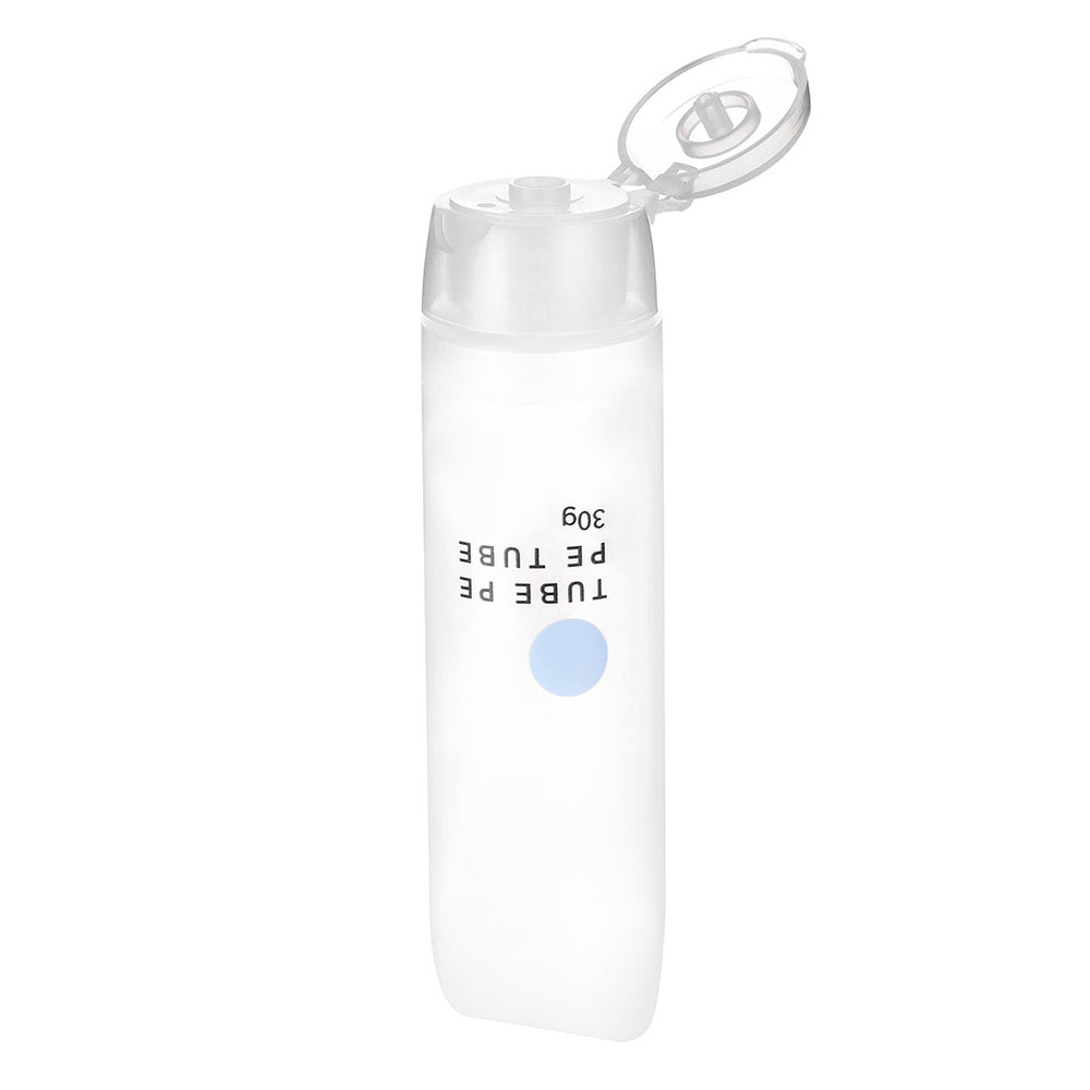 MINISO White Refillable Plastic Soft Tubes Bottle, 30g