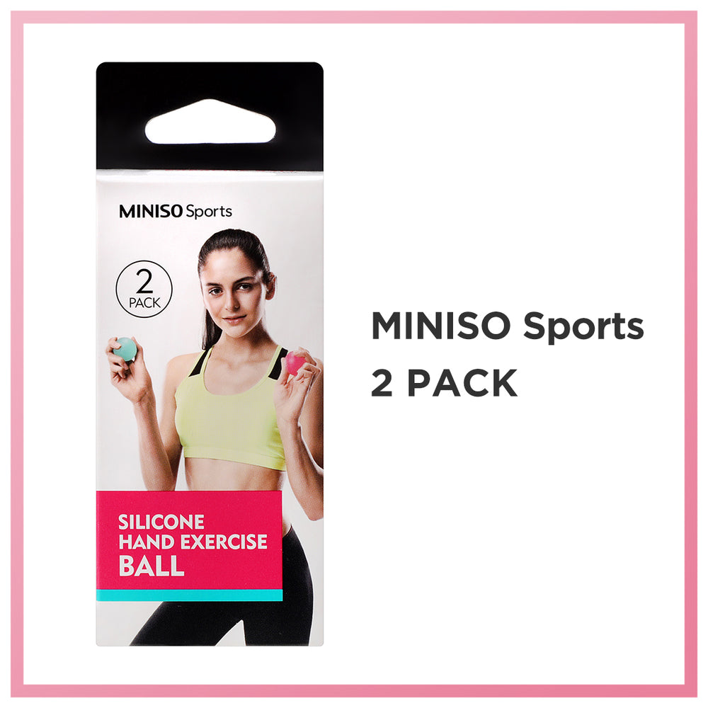 MINISO Sports - Silicone Hand Exercise Balls 2/Pack (Random Color)