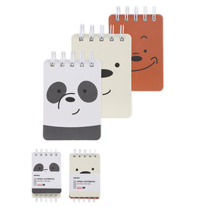 MINISO x We Bare Bears - Wirebound Spiral Notebook Small Size (2 Pack)