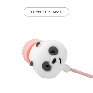 MINISO We Bare Bears In-Ear Headphones With Microphone Pink