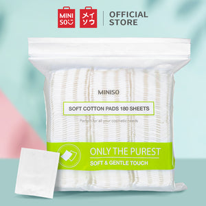 MINISO Soft Cotton Pads 180PCS Cleansing Sheets