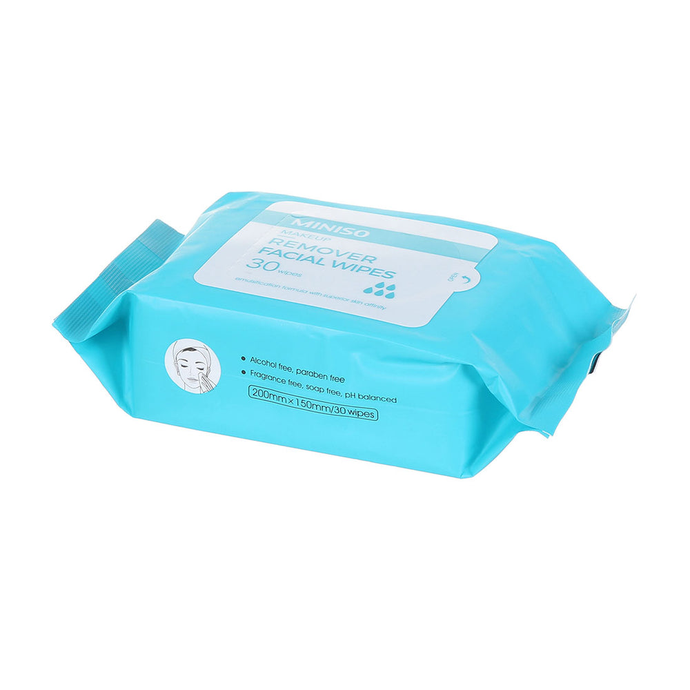 MINISO Ultra-Calming Makeup Remover Facial Cleansing Wipes for Sensitive Skin, 30 pcs
