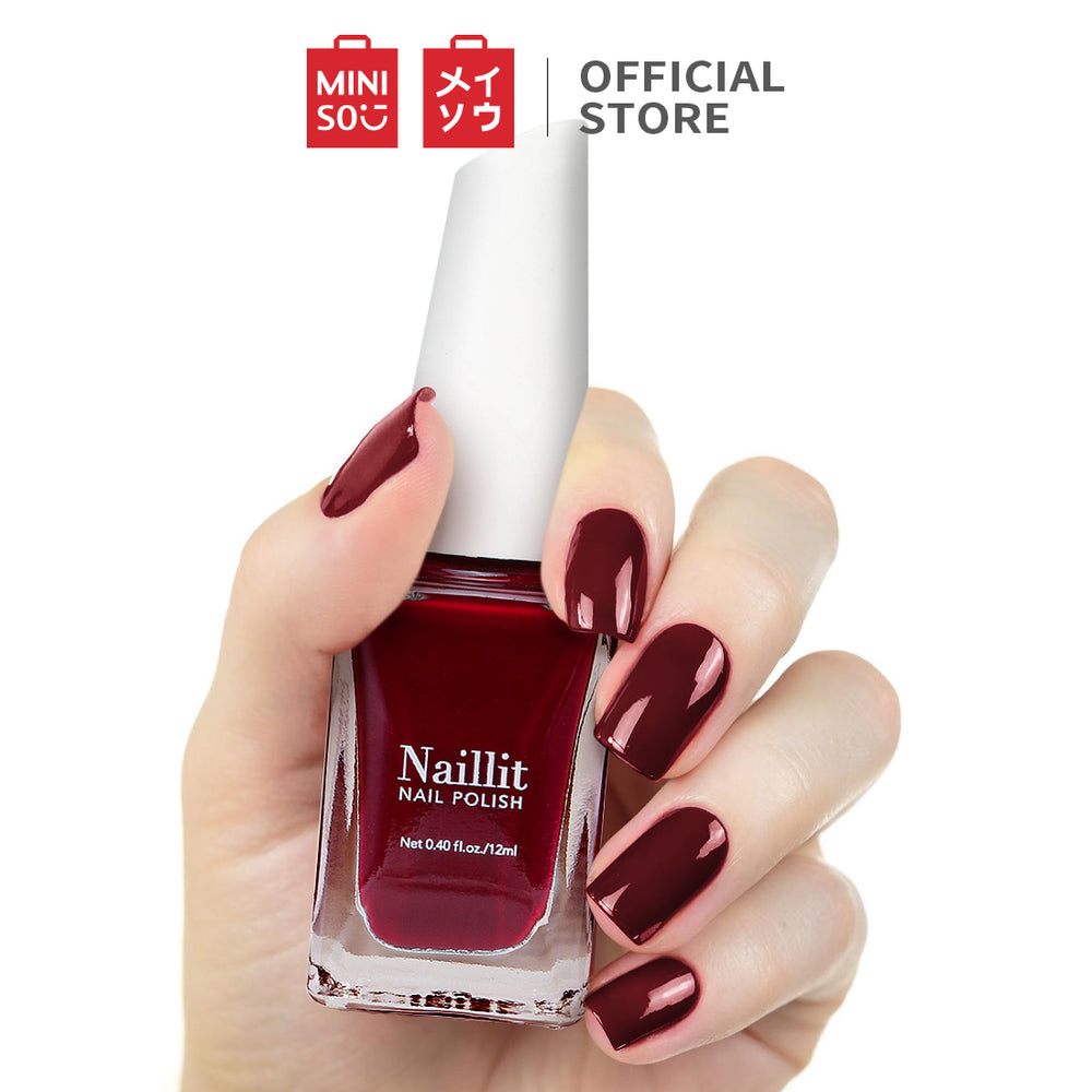 MINISO Pittura Naillit Nail Polish 12ml Vintage Burgundy