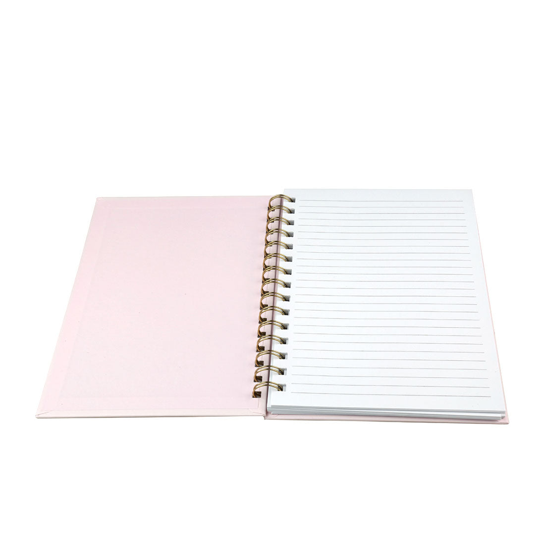 MINISO Spiral Wirebound Book, Diary Journal Writing Pad, Pink
