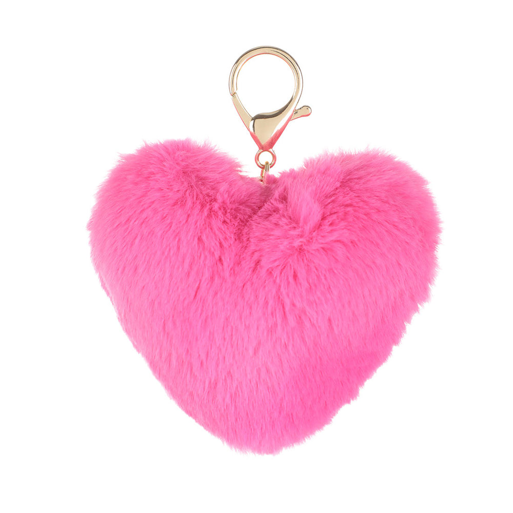 MINISO Valentine's Heart Plush Key Chain