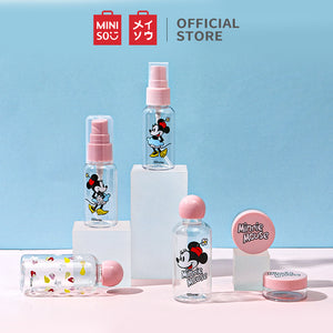 MINISO x Mickey Mouse Collection - Travel Kit 7PCS, Multipurpose Cosmetic Toiletry Bottles and Jars