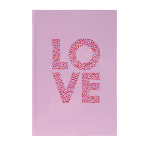 MINISO Valentine's Day A5 Hard Cover Notebook, Pink