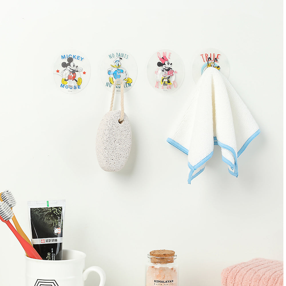 MINISO x Mickey Mouse Collection - Round Bathroom Hook (4 Pieces)