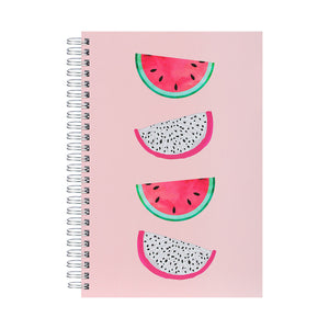 MINISO Fruit Series - A5 Wirebound Book, 80 Sheets