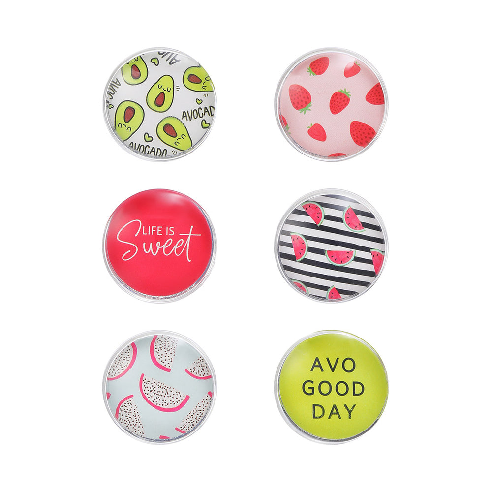 MINISO Fruit series - Round Button Decorative Fridge Magnets