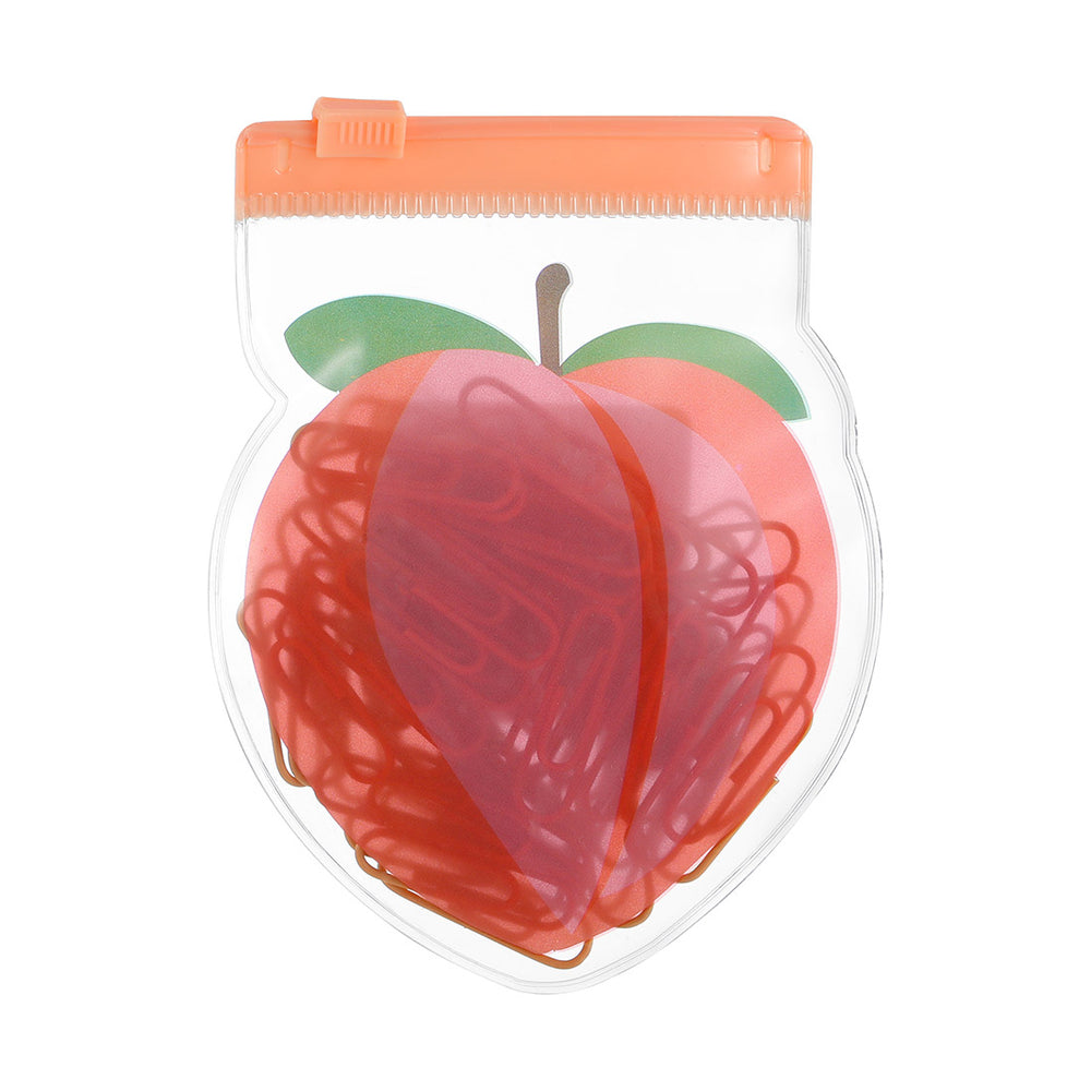 Load image into Gallery viewer, MINISO Fruit Series - Paper Clip & Rubber Band Set (Random Colour)