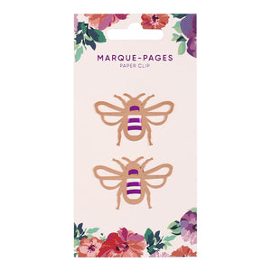 MINISO Fashion Bee Metal Bookmarks