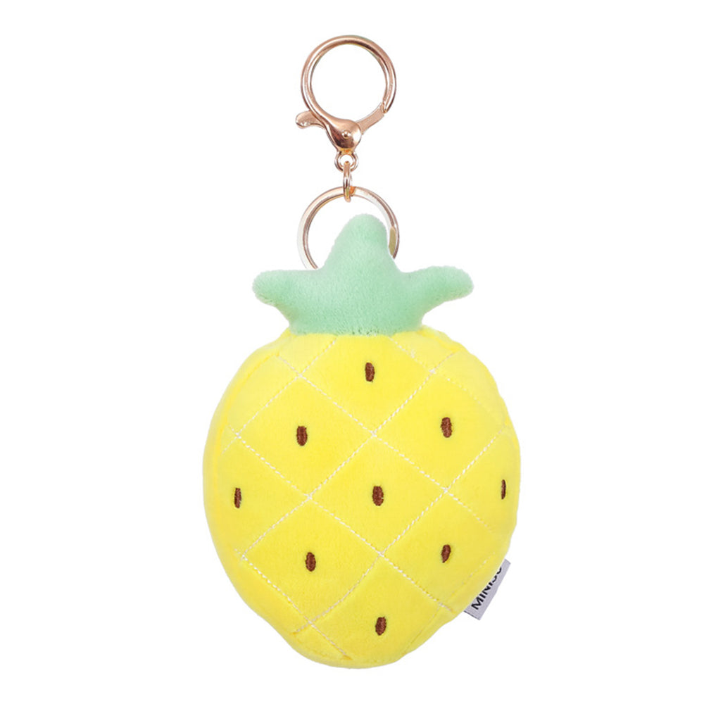 MINISO Pineapple Plush Key Ring Fashion Key Chain Pendant