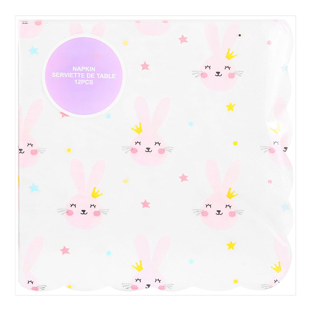 "MINISO Cute Colourful Modeling Party Paper Napkins, 6.5 x 6.5"" - Pack of 4"