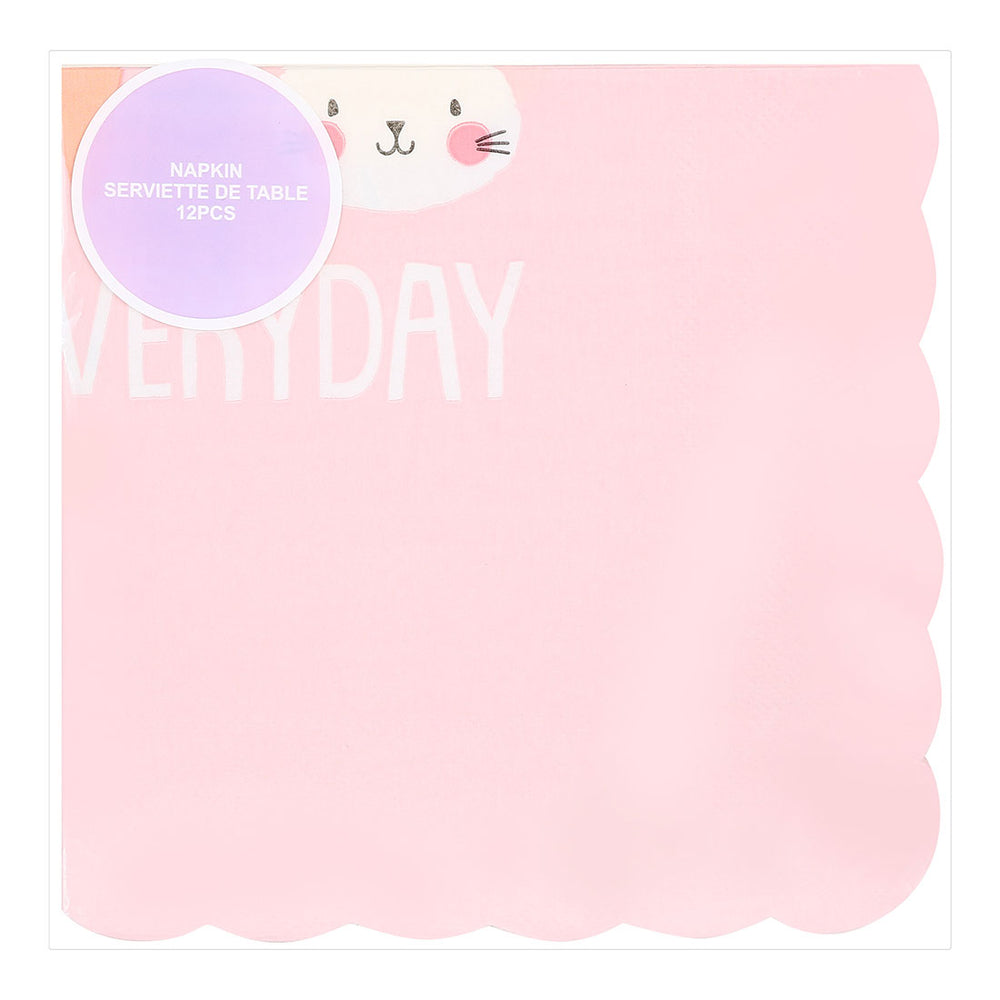 "Load image into Gallery viewer, MINISO Cute Colourful Modeling Party Paper Napkins, 6.5 x 6.5"" - Pack of 4"