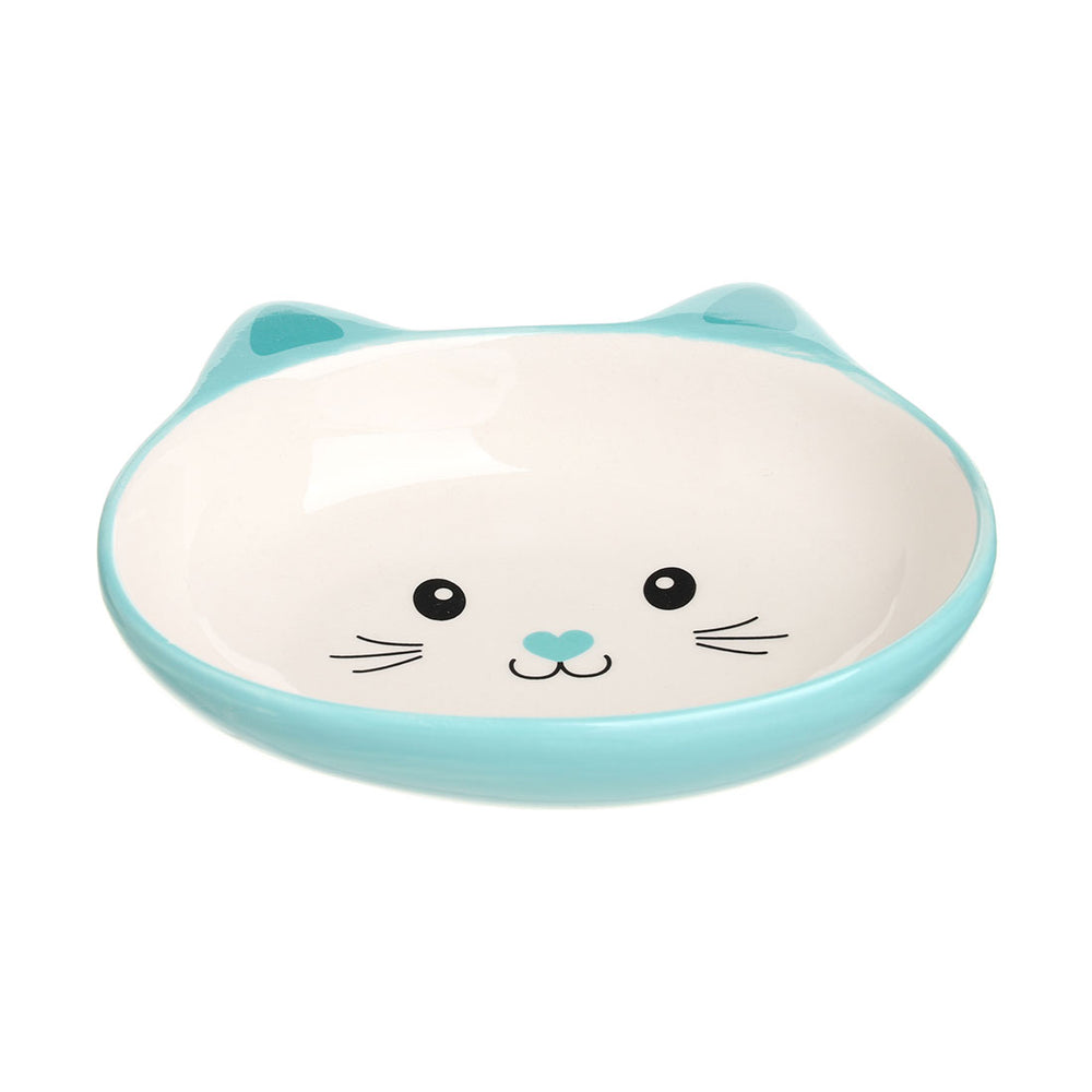 MINISO Pet Series - Non Slip Double Dish Cute Cat-shaped Pet Food & Water Bowl