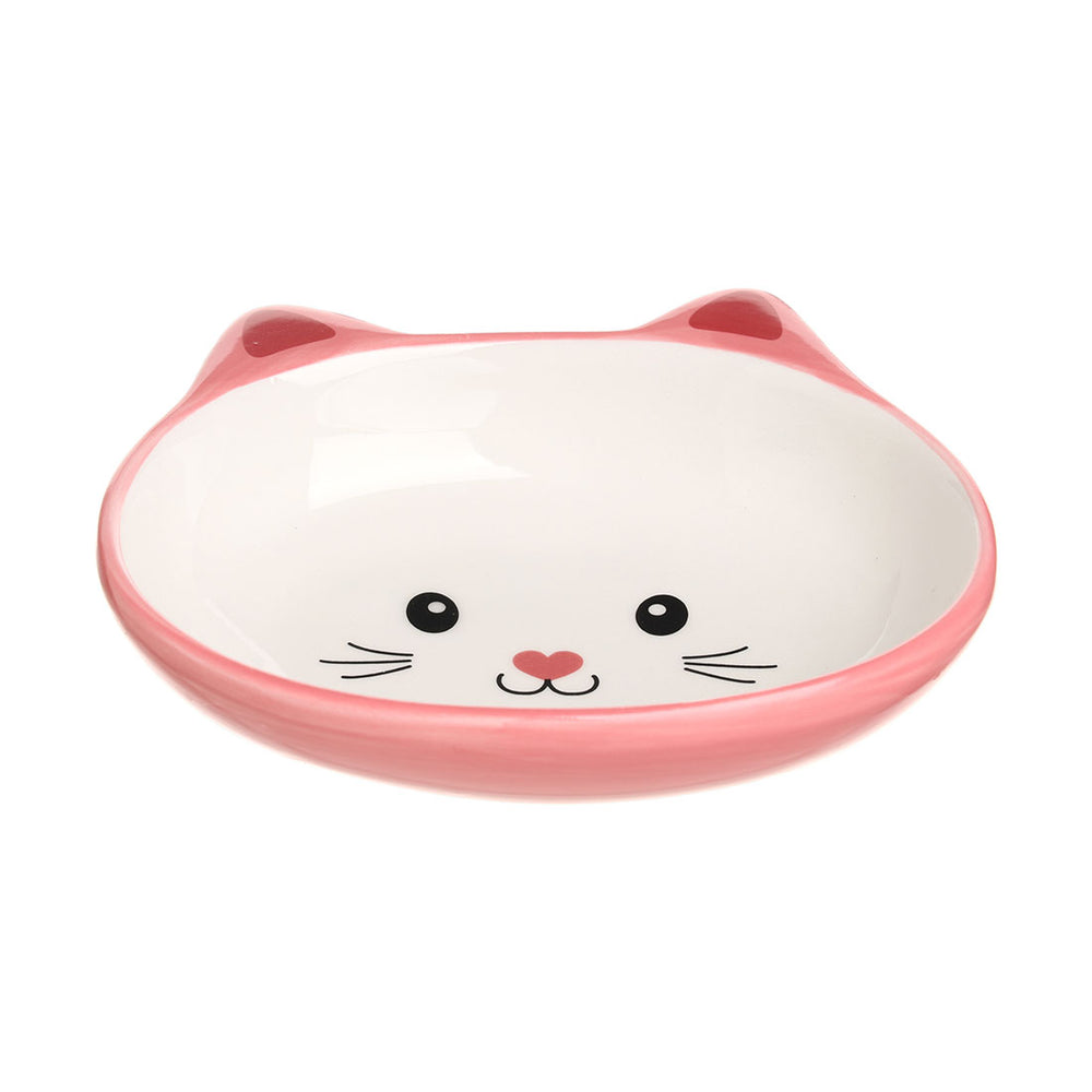 Load image into Gallery viewer, MINISO Pet Series - Non Slip Double Dish Cute Cat-shaped Pet Food & Water Bowl