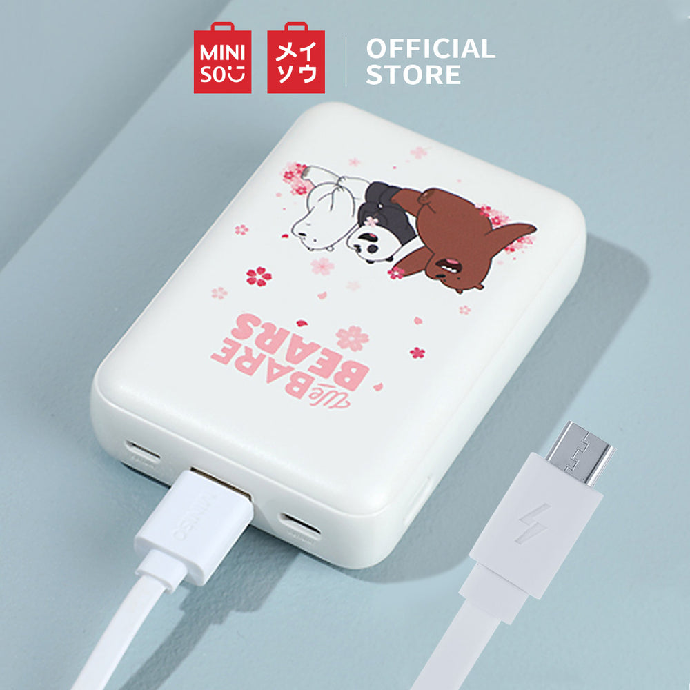 MINISO x We Bare Bears 10000mAh Power Bank Portable Charger