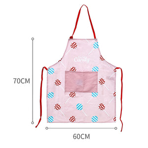"MINISO Candy Series Apron with Pocket - Size 27 x 23"", Pink"