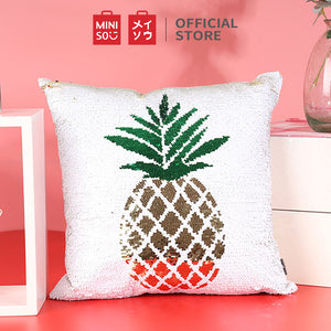 MINISO Fruit Series - Pineapple Pattern Square Throw Pillow