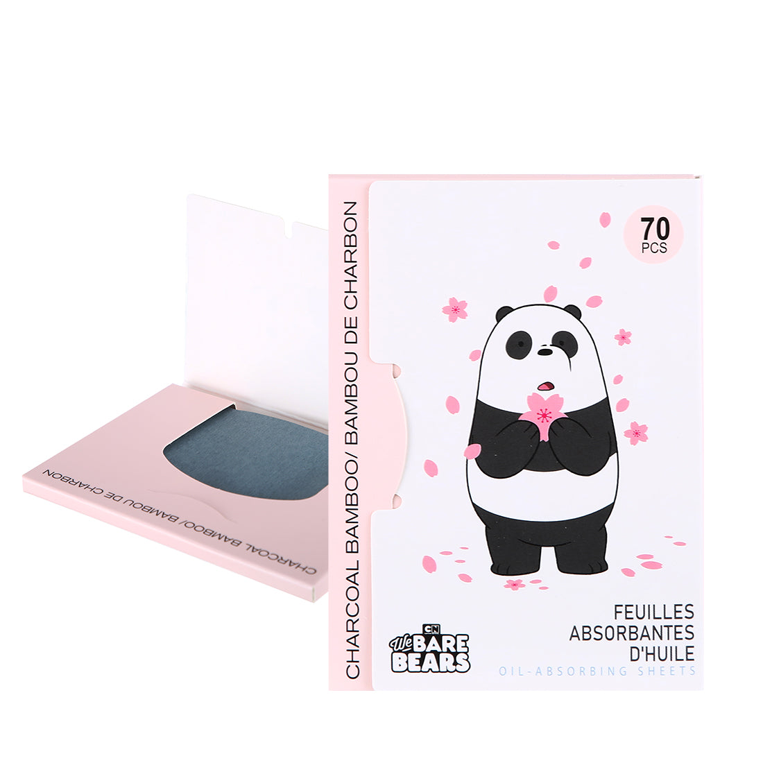 Miniso x We Bare Bears - Oil-Absorbing Sheets for Face Oil Control Tissue (70 sheet*2)