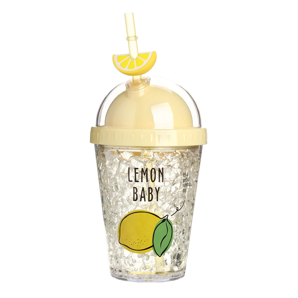 MINISO Fruit Series - Double-layered Tumbler with Straw, 380ml