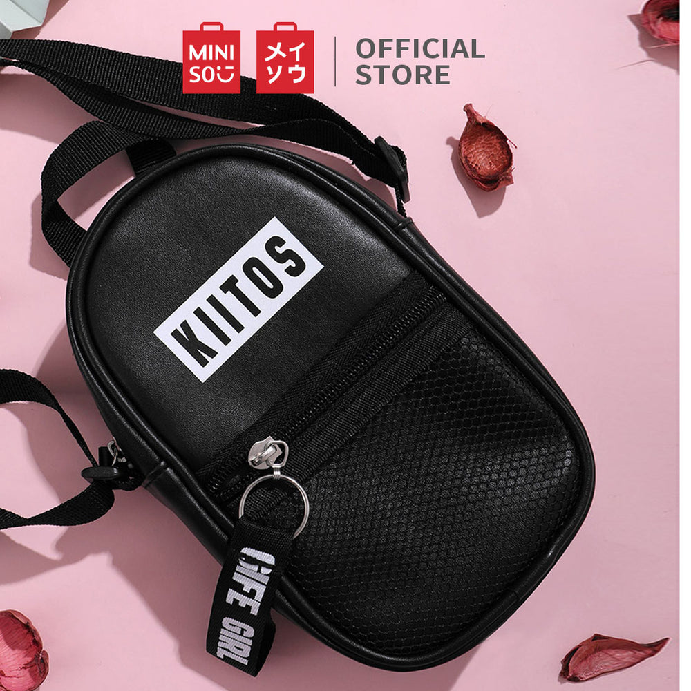 Load image into Gallery viewer, MINISO Mesh Stitching Vertical Crossbody Bag
