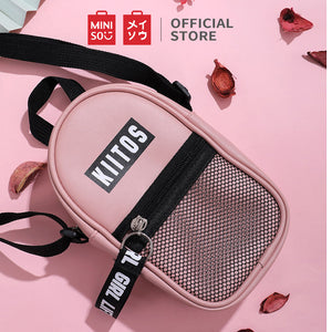 MINISO Mesh Stitching Vertical Crossbody Bag