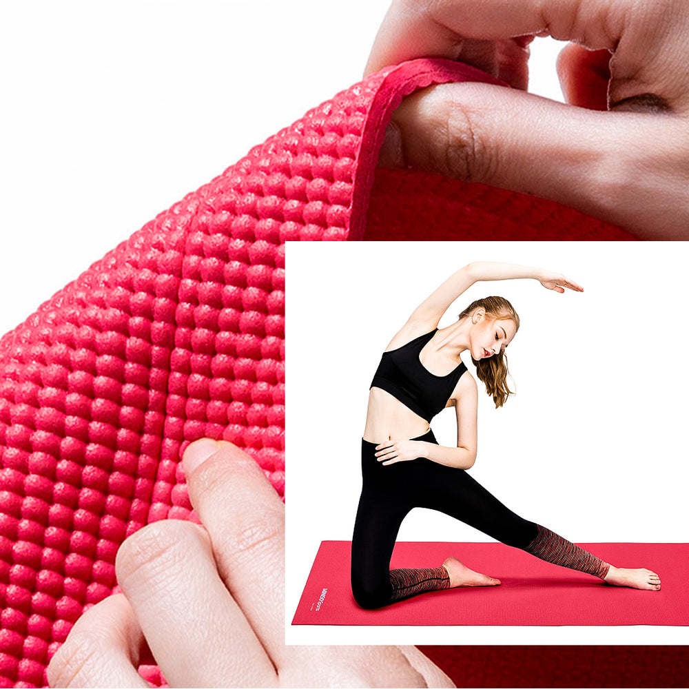MINISO Yoga Mat 3mm Comfortable Thick Yoga Mat Carol Red