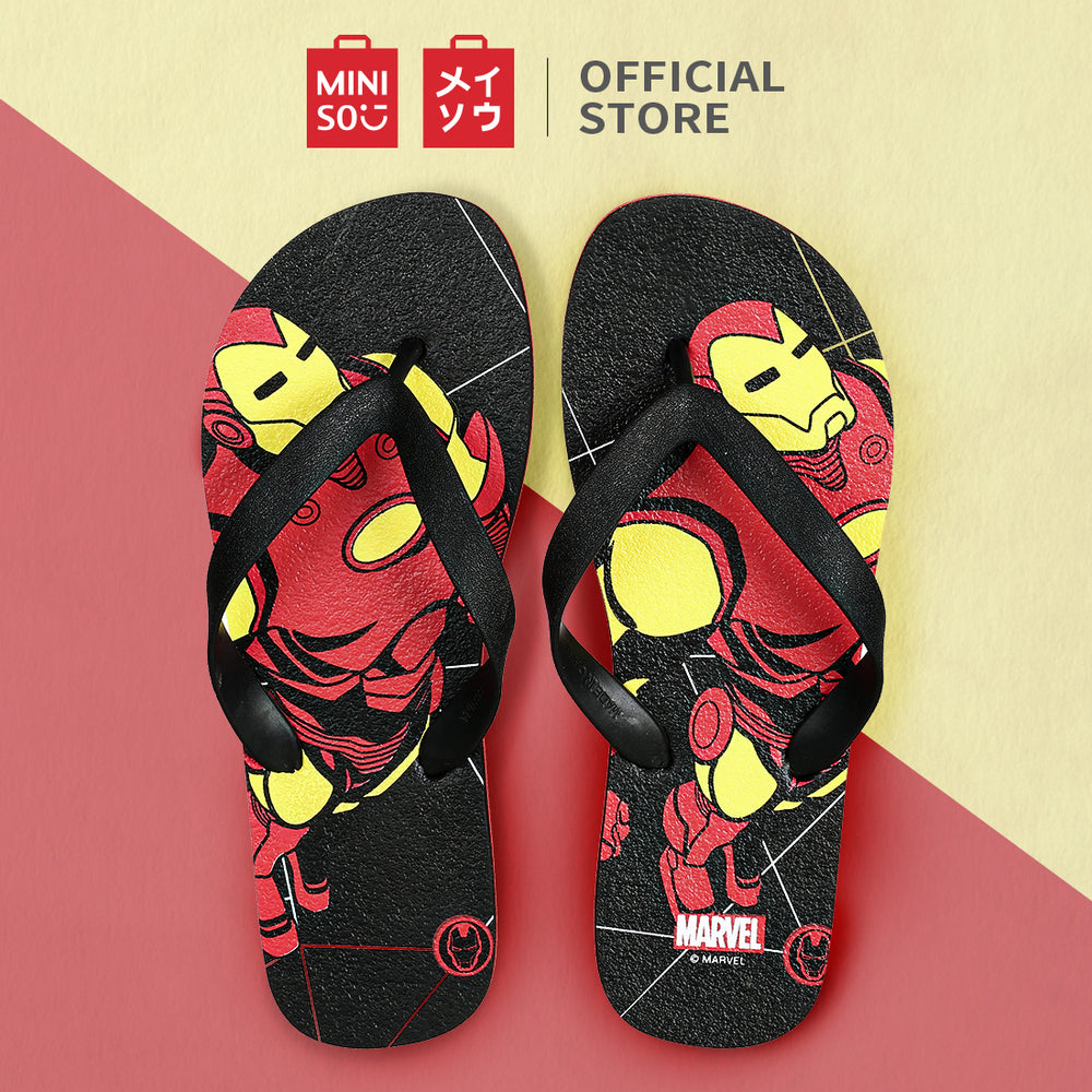 Load image into Gallery viewer, Marvel Collection Men's Flip-Flops (Iron Man) M, 41/42